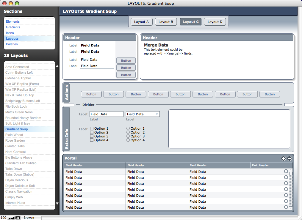 bento database templates - download free software open bento template in filemaker